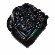 Louis Vuitton Splash Scarf, the Splash scarf features an abstract print on silk and wool, comes with