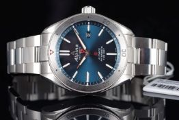 NOS ALPINA GENEVE AUTOMATIC ANTIMAGNETIC REFERENCE AL525X5AQ6, blue circular dial, stainless steel