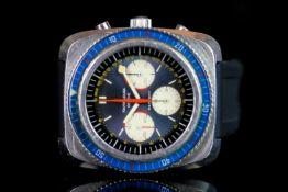 GENTLEMENS FAVRE LEUBA SEA SKY CHRONOGRAPH WRISTWATCH, circular grey triple register dial a red