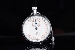 VINTAGE OMEGA STOPWATCH CIRCA 1960S, circular white dial with a 30 and 60 seconds counter,
