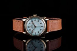 GENTLEMENS ROLEX PRECISION WRISWATCH, circular dial with arabic numbers, 30mm 9ct gold case with