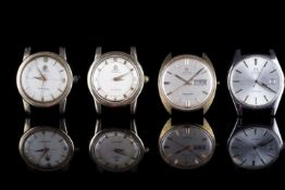 GROUP OF 4 OMEGA WRISTWATCHES INCL SEAMASTER COSMIC, all watches have circular cream, starburst