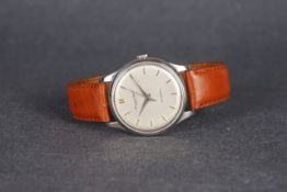 GENTLEMENS IWC AUTOMATIC WRISTWATCH, circular silver dial with pencil hour markers and dauphine