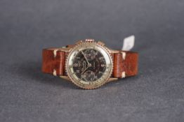 RARE GENTLEMENS BREITLING CHRONOMAT X SINGER SIGNED DIAL CHRONOGRAPH WRISTWATCH REF. 769 CIRCA