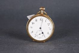 VINTAGE SS & CO PEERLESS IWC POCKETWATCH CIRCA 1903, circular off white dial with arabic numeral