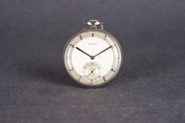 VINTAGE ZENITH POCKET WATCH CIRCA 1960/70, circular two tone dial with black arabic numeral hour