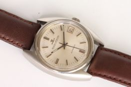 GENTLEMEN'S VINTAGE JAEGER-LECOULTRE AUTOMATIC REFERENCE 564-42, circular silvered dial, baton