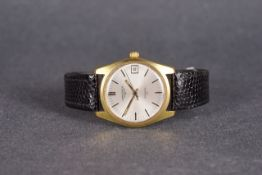 GENTEMENS LONGINES ADMIRAL HF WRISTWATCH, circular silver dial with hour markers and hands, date