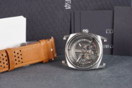 GENTLEMENS CODE41 AUTOMATIC WRISTWATCH W/ BOX & PAPERS, circular two tone skeleton dial with hour
