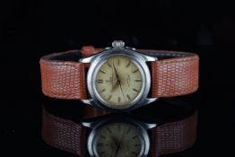 MID SIZE TUDOR OYSTER PRINCE 31 WRISTWATCH REF. 7810, circular patina dial with gold hour markers