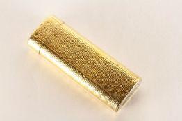 Cartier Lighter, gold patterned design, approximate length 7cm