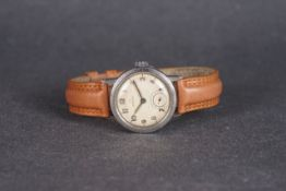 GENTLEMENS OMEGA WRISTWATCH REF. 2162, circular patina dial with lume arabic numeral hour markers