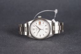 GENTLEMENS ROLEX OYSTERDATE PRECISION 'ROULETTE' WRISTWATCH REF. 6694, circular white dial with