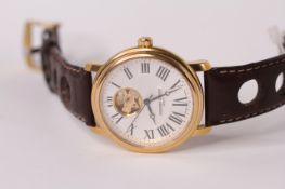 *TO BE SOLD WITHOUT RESERVE* FREDERIQUE CONSTANT GENEVE AUTOMATIC, silvered dial, Roman numerals,