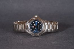 GENTLEMENS TAG HEUER KIRIUM PROFESSIONAL WRISTWATCH, circular blue dial with plot hour markers and
