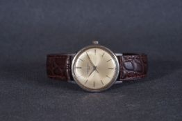 GENTLEMENS ETERNA MATIC 3000 WRISTWATCH, circular patina dial with stick hour markers and dauphine