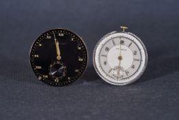 VINTAGE GUBELIN LUCERNE & MOVADO POCKET WATCH MOVEMENTS, pair of pocket watch movements with