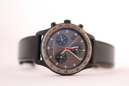 PORSCHE DESIGN PAT CHRONOGRAPH REFERENCE 137 214, circular grey dial, luminous hour markers,