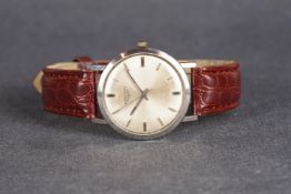 GENTLEMENS LONGINES WRISTWATCH REF. 7854, circular silver dial with silver hour markers and hands,