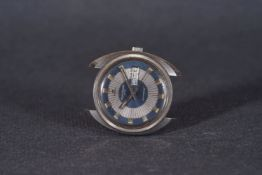 GENTLELENS JAEGER LE COULTRE CLUB AUTOMATIC DAY DATE WRISTWATCH, circular blue two tone dial with