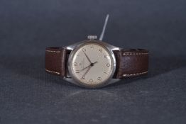 GENTLEMENS ROLEX OYSTER CHRONOMETRE WRISTWATCH REF. 4365 CIRCA 1959, circular silver dial with