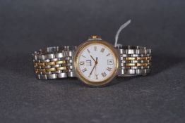 ***TO BE SOLD WITHOUT RESERVE*** GENTLEMENS DUNHILL DATE WRISTWATCH, circular white dial with gold