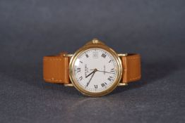 GENTLEMEMS RAYMOND WEIL AUTOMATIC WRISTWATCH, circular off white dial with black roman numeral