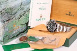 GENTLEMEN'S ROLEX OYSTER PERPETUAL SUBMARINER REFERENCE 16610 WITH BOX AND PAPERS CIRCA 2002,