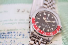 VINTAGE ROLEX OYSTER PERPETUAL GMT - MASTER REFERENCE 1675 CIRCA 1973, circular black dial,