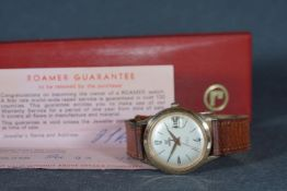 ***TO BE SOLD WITHOUT RESERVE*** GENTLEMENS ROAMER DATE WRISTWATCH W/ BOX & PAPERS, circular