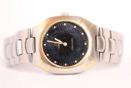 Vintage Omega Seamaster, digital and analogue, quartz, bi colour case and bracelet, screw on case