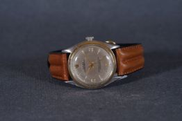 GENTLEMENS ROLEX OYSTER PEREPTUAL STEEL & GOLD WRISTWATCH REF. 6084, circular silver dial with