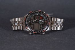 ***TO BE SOLD WITHOUT RESERVE*** GENTLEMENS CITIZEN PROMASTER ANALOG/DIGITAL WORLD TIMER CHRONOGRAPH
