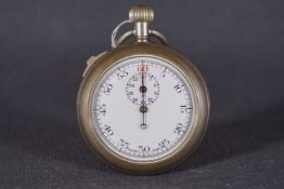 VINTAGE WWI MILITARY MKII 8054 TIMER CIRCA 1919, circular white dial with arabic numeral markers and