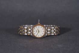 ***TO BE SOLD WITHOUT RESERVE*** LADIES LONGINES QUARTZ DATE WRISTWATCH, circular white dial with