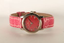 NOS LADIES BLANCPAIN LADYBIRD WRISTWATCH, circular pink mother of pearl dial with roman numerals,