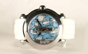 LADIES CHOPARD ANIMAL WORLD LIMITED EDITION OF 150 WRISTWATCH, circular penguin print dial with