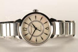LADIES CONCORD IMPRESARIO WRISTWATCH, circular mother of pearl dial, diamond set inner ring,