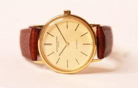 GENTLEMEN'S VACHERON & CONSTANTIN CALATRAVA AUTOMATIC 18ct GOLD WRISTWATCH, circular gold dial