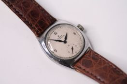 VINTAGE 1925 ROLEX SHOCK RESISTING REFERENCE 3892, white dial with black Arabic numerals, subsidiary