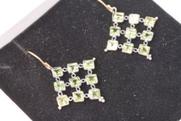 Pair of Peridot Earrings, comes with a box