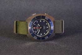 GENTLEMENS AQUASTAR BENTHOS 500 GENEVE SA DIVERS WRISTWATCH CIRCA 1960s, circular navy blue dial