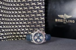 GENTLEMENS BREITLING CHRONOMETRE SUPER OCEAN CHRONOGRAPH WRISTWATCH W/ BOX REF. A13340, circular
