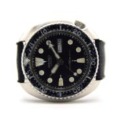 GENTLEMAN'S SEIKO AUTOMATIC DIVER TURTLE, CIRCA. 1976, REF. 6309-7040, 44MM CUSHION CASE, circular