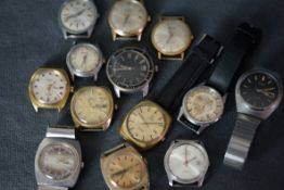 *** THIS LOT IS TO BE SOLD WITHOUT RESERVE *** GROUP OF VINTAGE WRISTWATCH INCL OMEGA