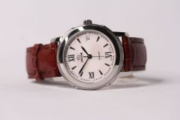 GENTLEMENS JAGUAR AUTOMATIC WRISTWATCH REF J950, circular white dial with hour markers and roman