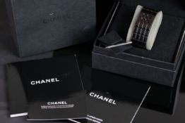 LADIES CHANEL CHOCOLATE WATCH REF H1003, digital dial,