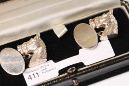 Silver Horse Cufflinks, comes with a box
