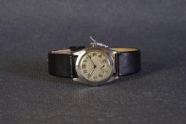 GENTLEMENS ROLEX OYSTER WRISTWATCH CIRCA 1940s,circular patina dial with patina araic numeral hour