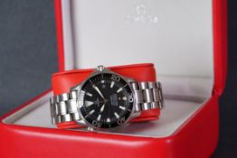 GENTLEMENS OMEGA SEAMASTER PROFESSIONAL CHRONOMETER DATE JAMES BOND WRISTWATCH W/ BOX & BOOKLET,